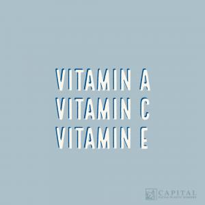 vitamin a, c, e for skin